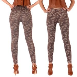 Pants - Camouflage pattern leggings / Made in Italy